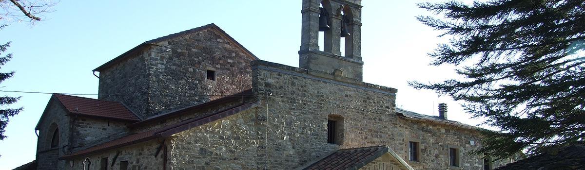 Immagini dell'abbazia francescana di S.Maria a Rofelle a Badia Tedalda