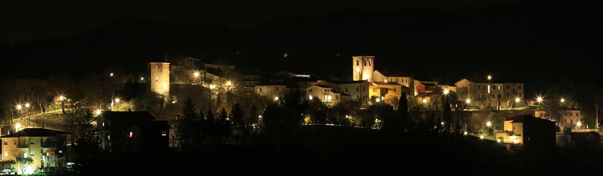 Immagine notturna di Frontino