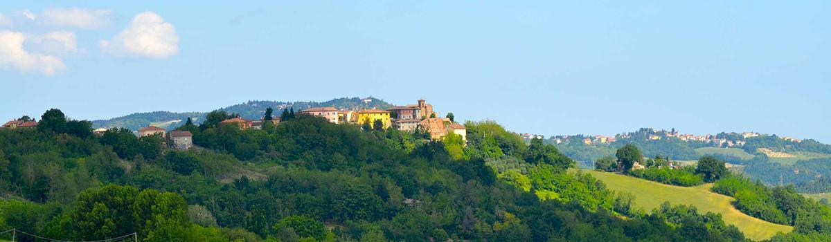 Immagine panoramica del borgo di Petriano