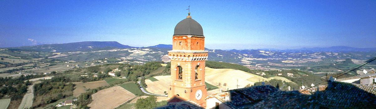 Immagine della vista panoramica da Frontone