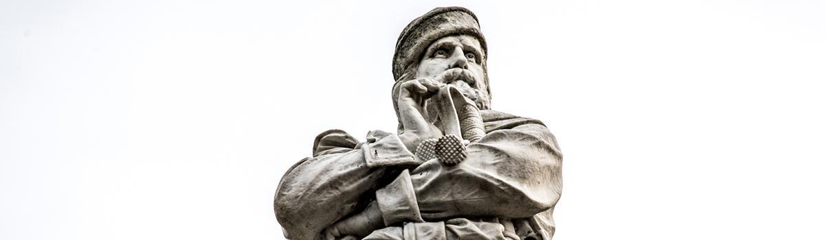 Immagine del monumento a Garibaldi a Macerata Feltria
