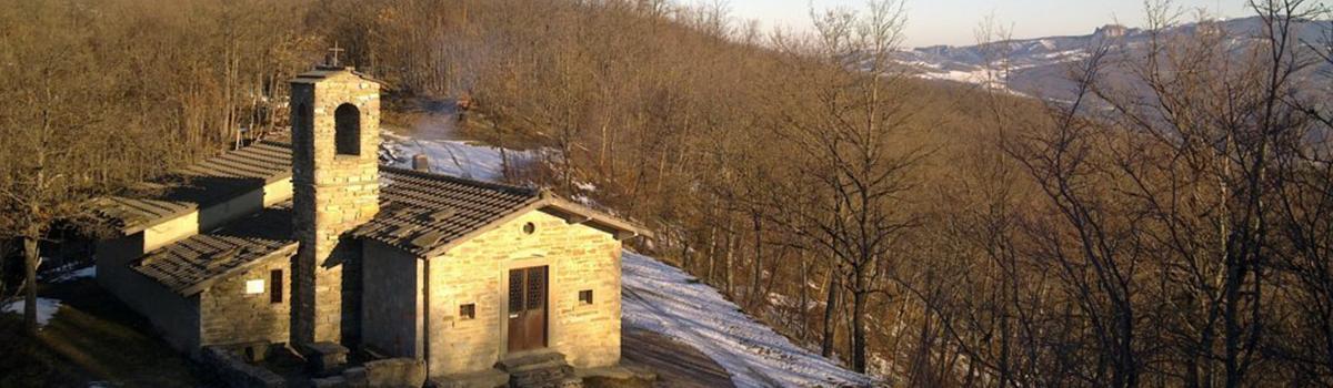 Immagine dell'Oratorio della Colubraia nei pressi di Borgo Pace