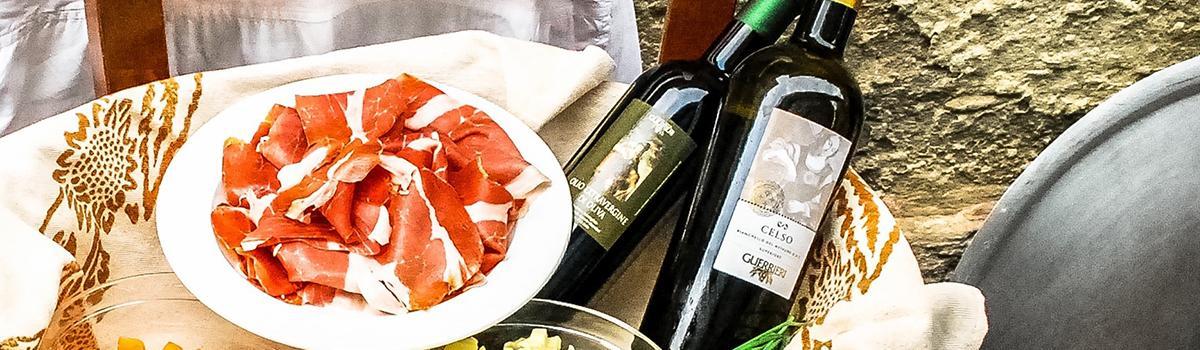 Immagine della gastronomia e del prosciutto di Carpegna