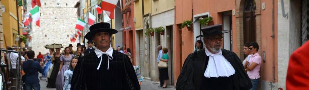 Immagine del corteo storico di Fermignano