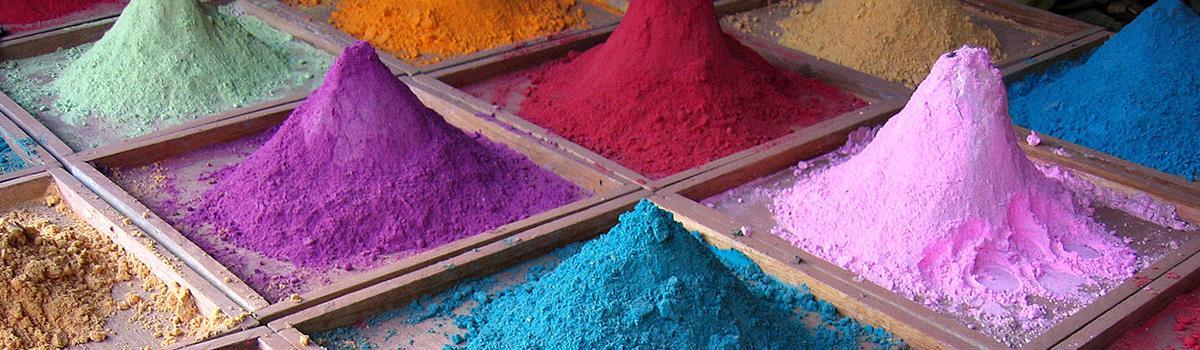 Immagine di un particolare del Museo dei colori naturali di Borgo Pace