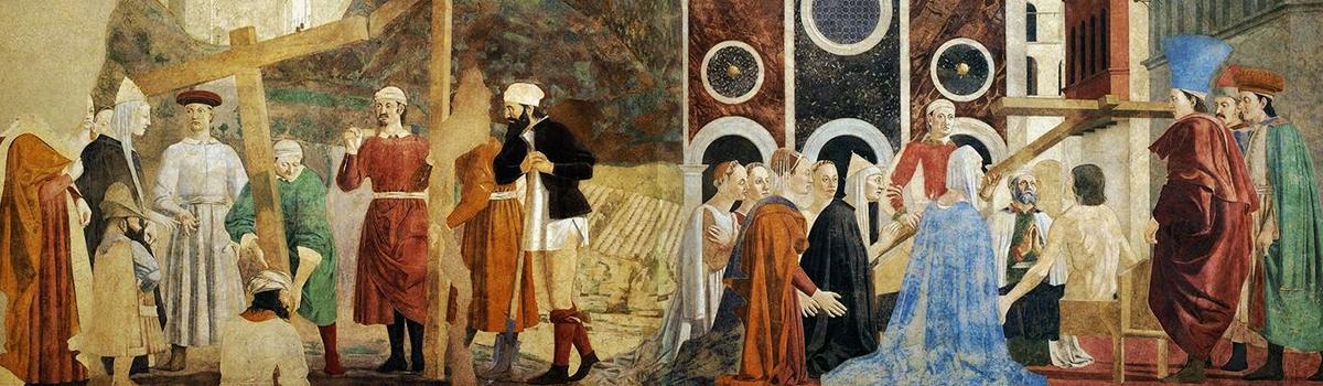 Immagine del dipinto della Leggenda della vera Croce di Piero della Francesca