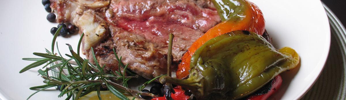 Immagine di una bistecca di razza Marchigiana