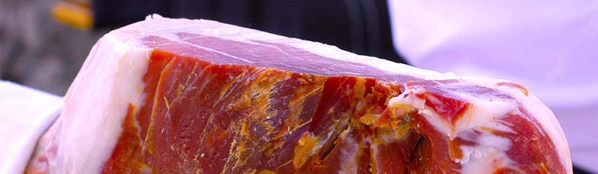 Immagine del prosciutto DOP di Carpegna