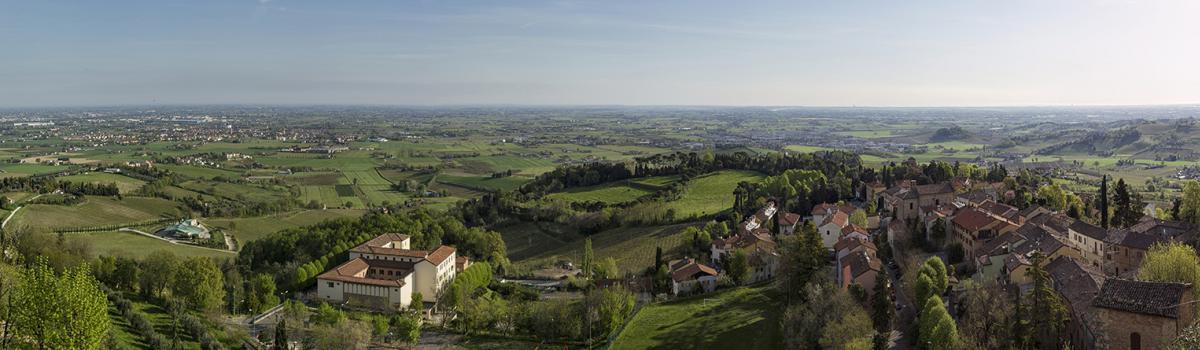 """Immagine panoramica delle terre della """"Strada dei Vini e Sapori di Forlì e Cesena"""""""