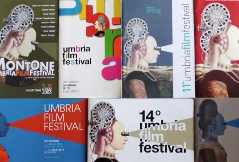 Immagine delle locandine ufficiali dell'Umbria Film Festival di Montone
