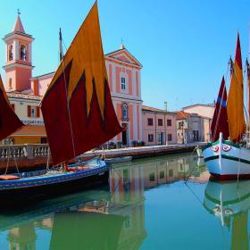 Immagine del porto Leonardesco di Cesenatico (foto Wikimedia Commons)